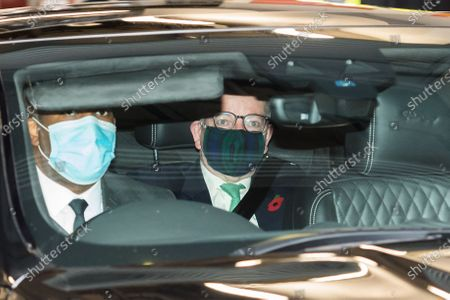 Chancellor of the Duchy of Lancaster and Minister for the Cabinet Office Michael Gove leaves the BBC Broadcasting House in central London after appearing on The Andrew Marr Show.