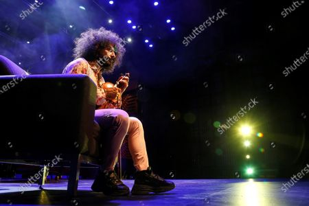 Lebanese-Armenian violinist Ara Malikian speaks during an interview with Spanish news agency Efe in Guadalajara, Mexico, 30 October 2020 (issued 01 November 2020).