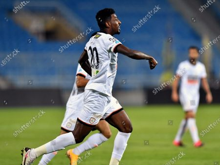 Al-Shabab's player Ahmed Sharahili in action during the Saudi Professional League soccer match between Al-Shabab and Al-Nassr at Prince Faisal Bin Fahd Stadium in Riyadh, Saudi Arabia, 1 November 2020.