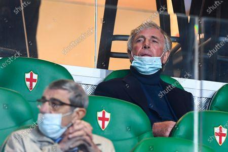 Genoa's Italian chairman Enrico Preziosi  before the Italian Serie A soccer match Uc Sampdoria vs Genoa Cfc at Luigi Ferraris stadium in Genoa, Italy, 01 November 2020.