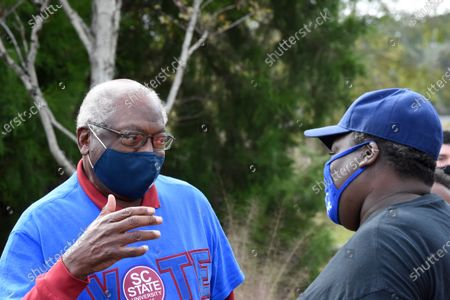 House Majority Whip Jim Clyburn speaks with attendees at a rally for Democratic U.S. Senate candidate Jaime Harrison of South Carolina, in Hollywood, S.C