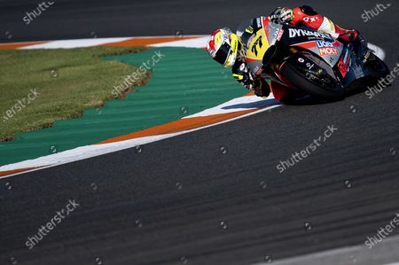 Dominique Aegerter (77) of Switzerland during the Moto2 FIM CEV race at Ricardo Tormo Circuit on November 01, 2020 in Cheste, Spain.