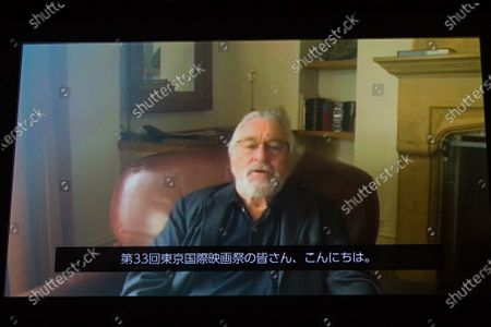 The 33rd Tokyo International Film Festival opening. Video Message, Actor Robert De Niro
