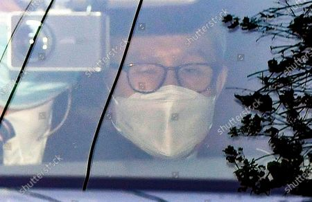 South Korea's former President Lee Myung-bak leaves his house in Seoul, South Korea, 02 November 2020. The Supreme Court on 29 October upheld a lower court ruling of a 17-year prison term for Lee, who was out on bail, for embezzlement and bribery.