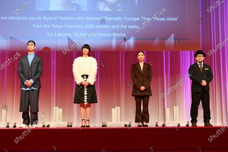 Yo Aoi, Yui Sakuma, Kokoro Morita, Ryohei Yoshino - The 33rd Tokyo International Film Festival. Opening Ceremony at Roppongi Hills in Tokyo, Japan on October 31, 2020.