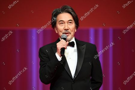 Stock Picture of Koji Yakusho - The 33rd Tokyo International Film Festival. Opening Ceremony at Roppongi Hills in Tokyo, Japan on October 31, 2020.