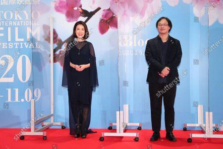 Mariko Tsutsui, Koji Fukada - The 33rd Tokyo International Film Festival. Opening Ceremony at Roppongi Hills in Tokyo, Japan on October 31, 2020.