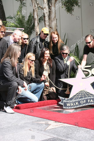 Barbara Orbison and family with guests