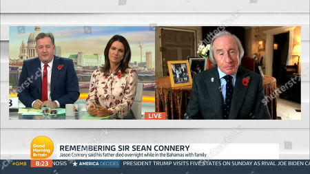 Stock Picture of Piers Morgan, Susanna Reid, Sir Jackie Stewart