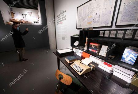COPENHAGEN 2020-11-02, An exterior of Den Sorte Diamant (the Black Diamond) in Copenhagen, where the exhibition 'Stranger than kindness - The Nick Cave Exhibition' opened for the press on Monday