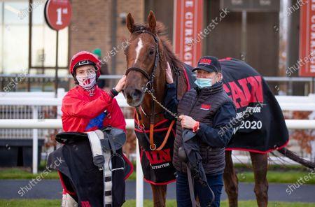 The GAIN Equine Nutrition Handicap. Jockey Colin Keane and Pretty Boy Floyd after winning