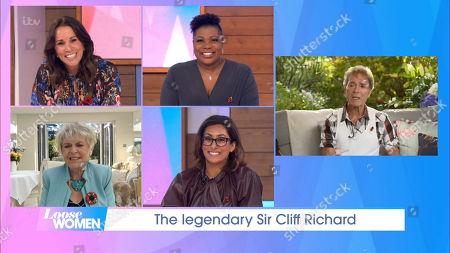 Andrea McLean, Brenda Edwards, Gloria Hunniford, Saira Khan, Sir Cliff Richard