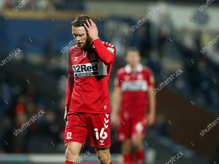 Jonathan Howson of Middlesbrough looks dejected during the game