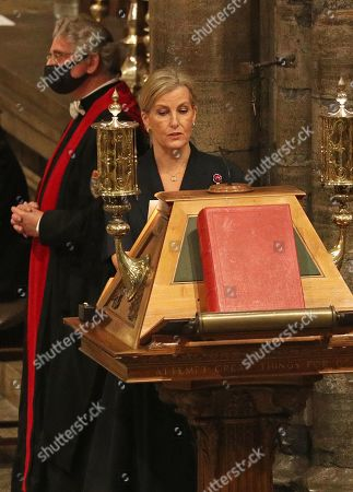 Sophie Countess of Wessex delivers a reading at the Sung Eucharist during the All Souls' Day Service at Westminster Abbey in London. The service is being held this year in partnership with Loss and HOPE, a coalition of organisations helping churches of all denominations across the UK to support the bereaved.