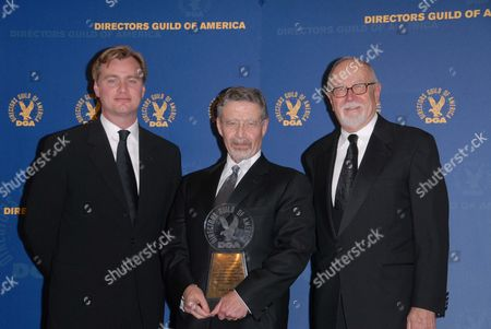 Christopher Nolan, Barry Meyer and Gil Cates