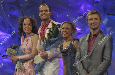 Stock Image of Tana Ramsay and Stuart Widdall with Jayne Torvill and Christopher Dean.