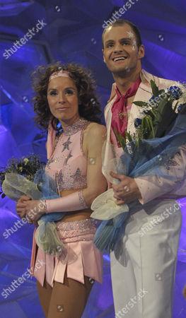 Stock Photo of Tana Ramsay and Stuart Widdall