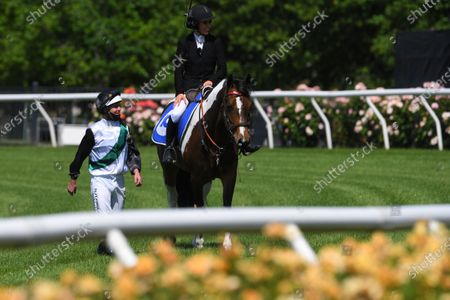 Stock Picture of Jockey Luke Nolen (left) walks back to scale after riding Finance Tycoon to victory in race 1, the Darley Maribyrnong Plate during Melbourne Cup Day at Flemington Racecourse in Melbourne, Australia, 03 November 2020.