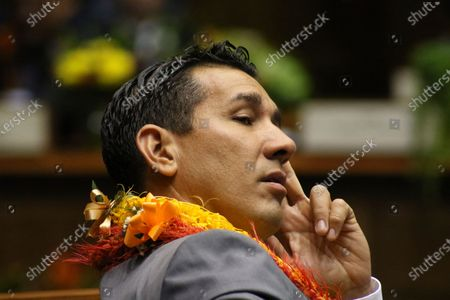 Is state Sen. Kai Kahele at the opening day of the Hawaii Sate Legislature in Honolulu. Races for two seats in Congress top the ballot, in Hawaii. Democratic State Sen. Kai Kahele and Republican Joe Akana are vying to succeed U.S. Rep. Tulsi Gabbard. The seat they seek represents suburban Honolulu and islands other than Oahu