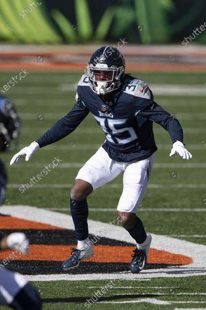Tennessee Titans defensive back Chris Jackson (35) during an NFL football game against the Cincinnati Bengals, in Cincinnati