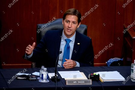 Sen. Ben Sasse, R-Neb., speaks during the confirmation hearing for Supreme Court nominee Amy Coney Barrett, before the Senate Judiciary Committee on Capitol Hill in Washington. The Republican incumbent is running for reelection