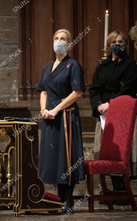 Sophie Countess of Wessex attends the Sung Eucharist to mark All Souls' Day Service at Westminster Abbey,London