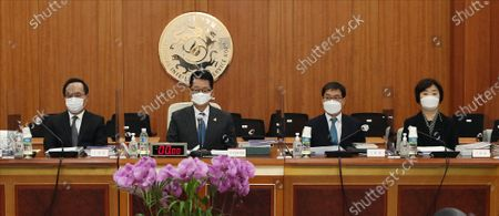 Editorial photo of Spy agency chief at parliamentary audits, Seoul, Korea - 03 Nov 2020