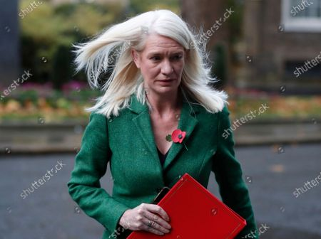 British Conservative politician Amanda Milling Minister without Portfolio arrives for cabinet meeting in London, . The Cabinet meeting is held in the Foreign Office to allow for social distancing due to the ongoing Coronavirus pandemic, rather than the normal 10 Downing Street