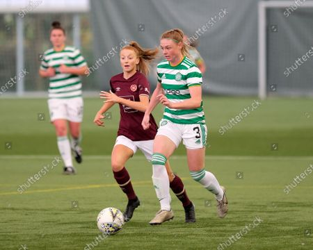 Jodie Bartle of Celtic and Jennifer Schwalbach Smith of Hearts