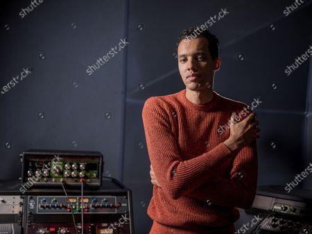 Gael Faye in the recording studio