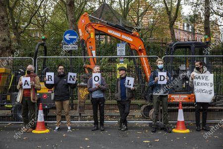 Editorial image of Dan Cruickshank heritage protest, London, UK - 23 Oct 2020