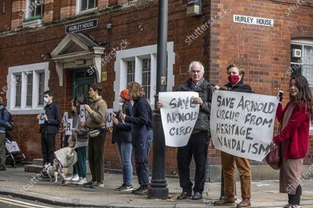 Editorial picture of Dan Cruickshank heritage protest, London, UK - 23 Oct 2020