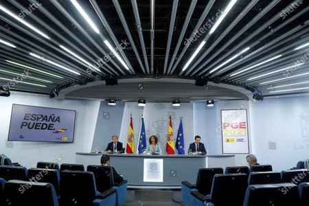 Editorial photo of Press conference after Cabinet meeting, Madrid, Spain - 03 Nov 2020