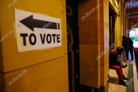 Editorial image of Election 2020 Georgia Voting, Atlanta, United States - 03 Nov 2020