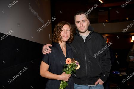 "Director Amanda Kernell and actor Sverrir Gudnason, after the announcement that their film ""Charter"" has been chosen as the Swedish submission for the Academy Award for Best International Feature Film"