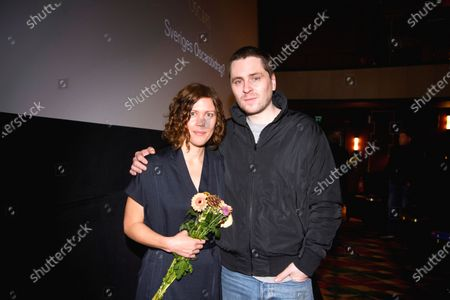 "Stock Photo of Director Amanda Kernell and actor Sverrir Gudnason, after the announcement that their film ""Charter"" has been chosen as the Swedish submission for the Academy Award for Best International Feature Film"
