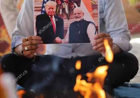 Editorial photo of Activists of Hindu Sena offer prayers for US president Donald Trump in New Delhi, India - 3 Nov 2020