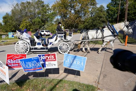 Editorial picture of Election 2020 Texas Voting, Houston, United States - 03 Nov 2020