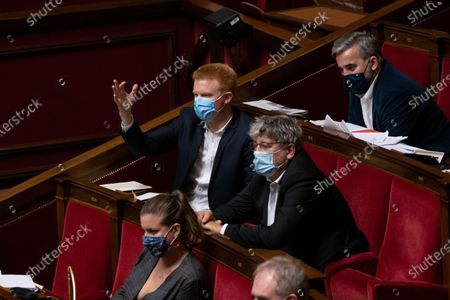 Adrien Quatennens and Eric Coquerel during the weekly session of questions to the government at the French National Assembly.
