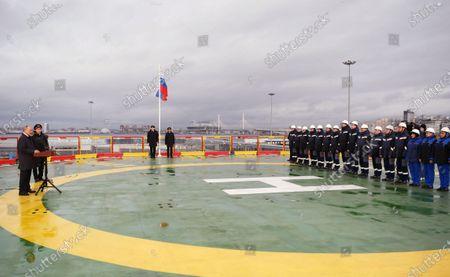 Editorial picture of Russian President Vladimir Putin visits newly built Viktor Chernomyrdin icebreaker, St Petersburg, Russian Federation - 03 Nov 2020