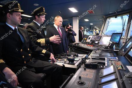 Editorial photo of Russian President Vladimir Putin visits newly built Viktor Chernomyrdin icebreaker, St Petersburg, Russian Federation - 03 Nov 2020