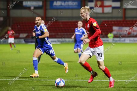 Crewe Alexandra midfielder Charlie Kirk (10) pushes forward during the EFL Sky Bet League 1 match between Crewe Alexandra and Gillingham at Alexandra Stadium, Crewe