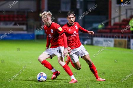 Stock Picture of Crewe Alexandra midfielder Charlie Kirk (10) during the EFL Sky Bet League 1 match between Crewe Alexandra and Gillingham at Alexandra Stadium, Crewe