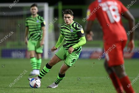 Forest Green Rovers Matt Stevens(9) on the ball during the EFL Sky Bet League 2 match between Forest Green Rovers and Leyton Orient at the New Lawn, Forest Green