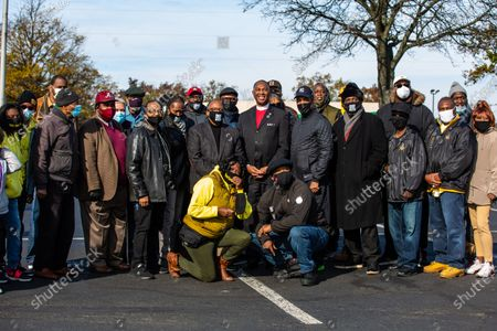 Editorial photo of 100 black men travel from NYC to protect voters, Philadelphia, USA - 03 Nov 2020