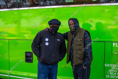 Editorial image of 100 black men travel from NYC to protect voters, Philadelphia, USA - 03 Nov 2020