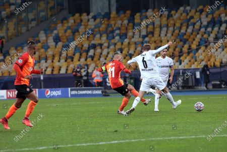 Editorial picture of Shakhtar vs Monchengladbach in UCL game in Kyiv, Ukraine - 03 Nov 2020