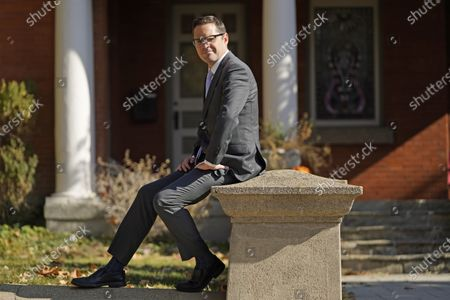 Democratic candidate Chris Peterson, who is running for Utah Governor, poses for a portrait, in Salt Lake City. Peterson is running against Republican Lt. Gov. Spencer Cox in Tuesday's election