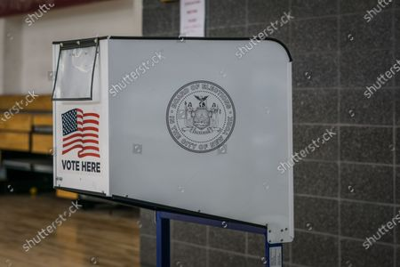 Stock Picture of Voters in the Bronx cast their ballots at Justice Sonia Sotomayor Community Center.