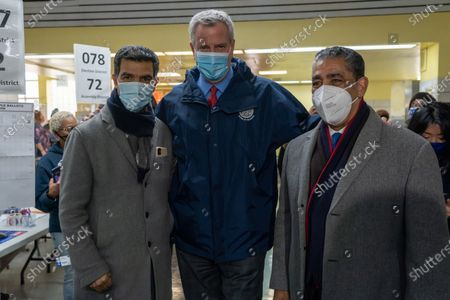 Editorial image of Mayor Bill de Blasio Visits Poll Site in New York, US - 03 Nov 2020
